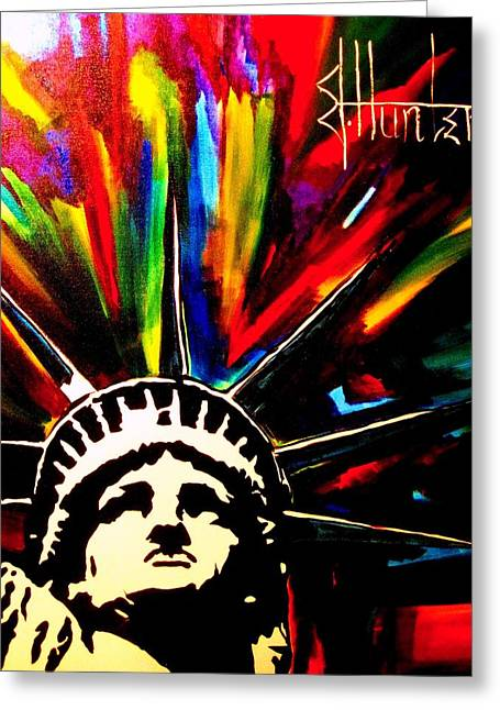 Colors Of Liberty Greeting Card by Jeff Hunter