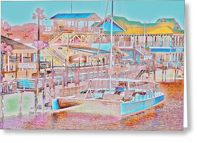 Colors Of Shem Creek Sc Greeting Card