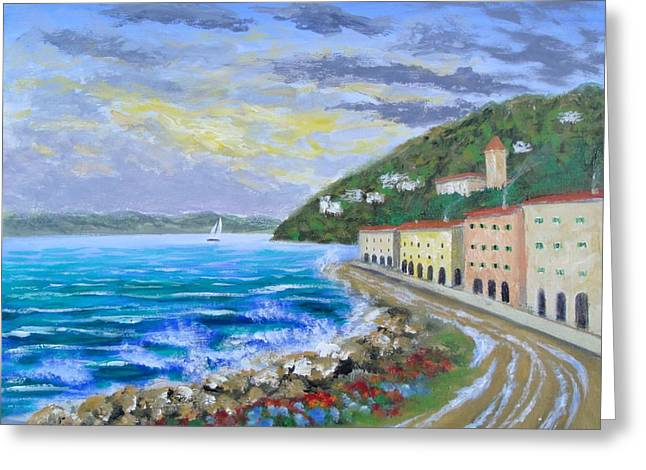 Colors Of The Riviera Greeting Card by Larry Cirigliano