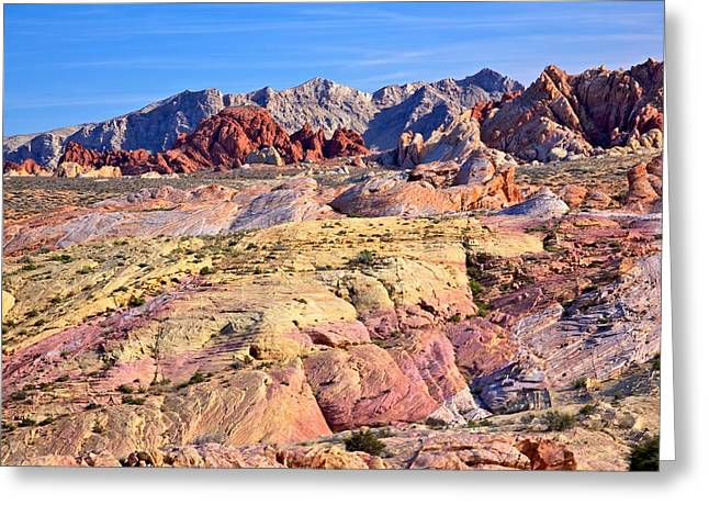 Greeting Card featuring the photograph Colors Of The Valley Of Fire by Joe Urbz