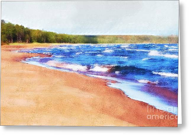Greeting Card featuring the photograph Colors Of Water by Phil Perkins