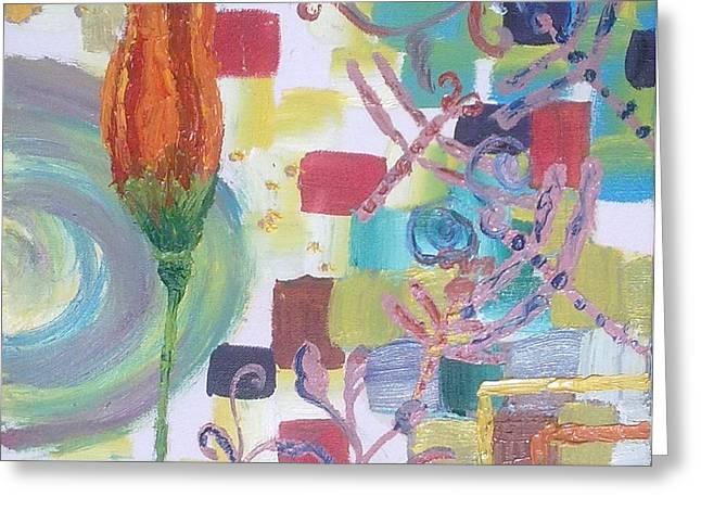 Colors Greeting Card by Rumesa Saddozai
