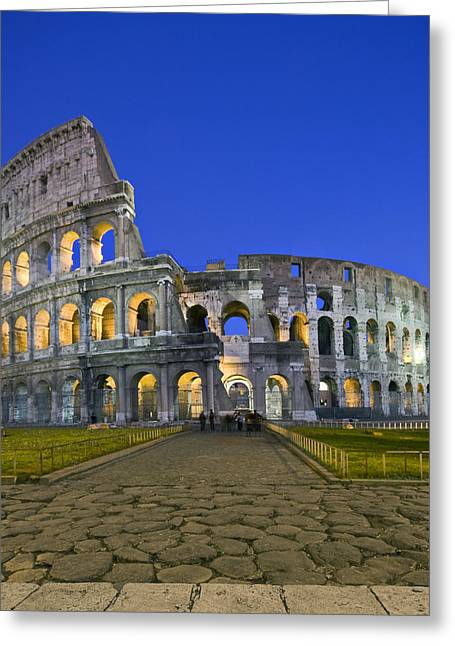 Colosseum At Blue Hour Greeting Card