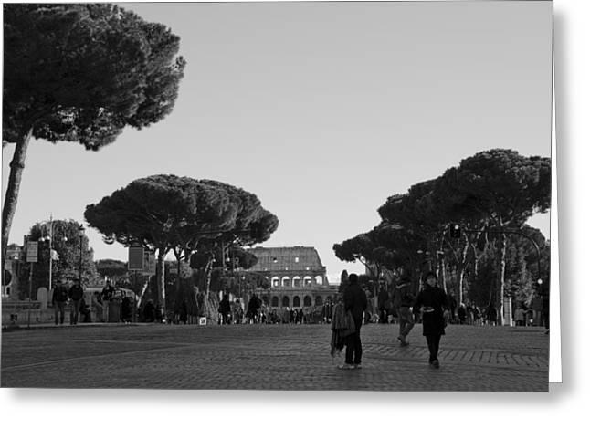 Colosseum Greeting Card by Marcel Krasner