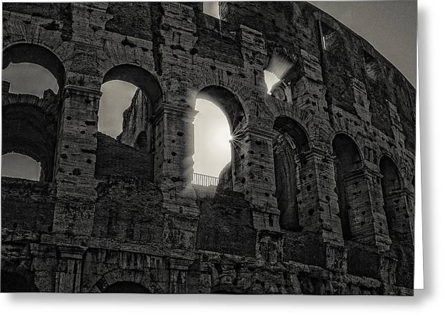 Colosseum Greeting Card by Michael Avory