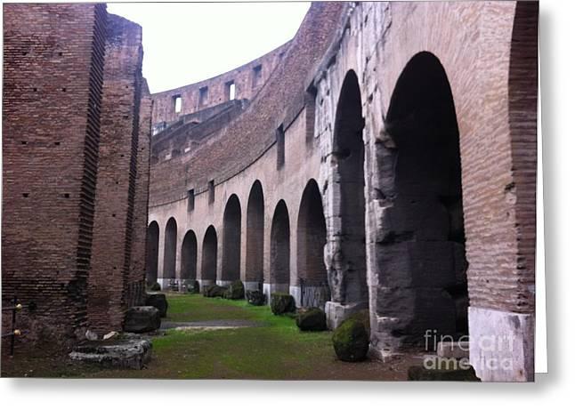 Colosseum Vomitorium Greeting Card by Richard Chapman