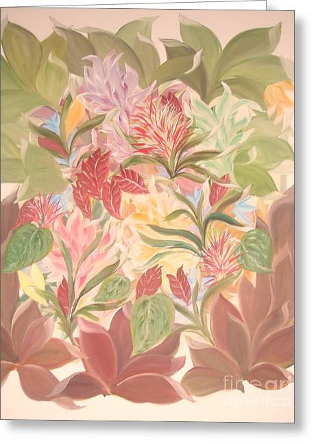Colourful Leaves Greeting Card by Rachel Carmichael
