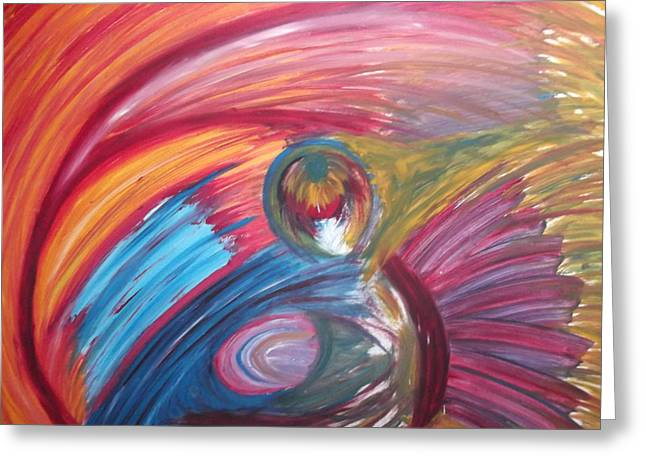 Colourful Mess Greeting Card by Sharon Tuff