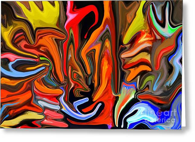 Colours Melting Greeting Card by Chris Butler