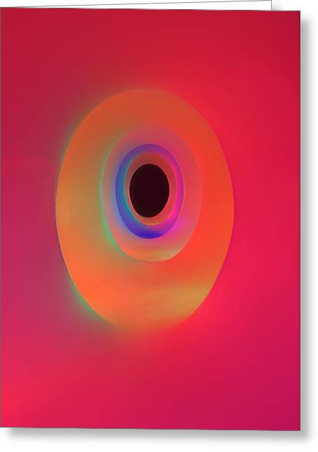 Colourscape Interior Greeting Card by Johnny Greig
