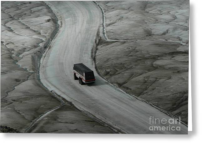 Columbia Icefield Glacier Adventure Greeting Card