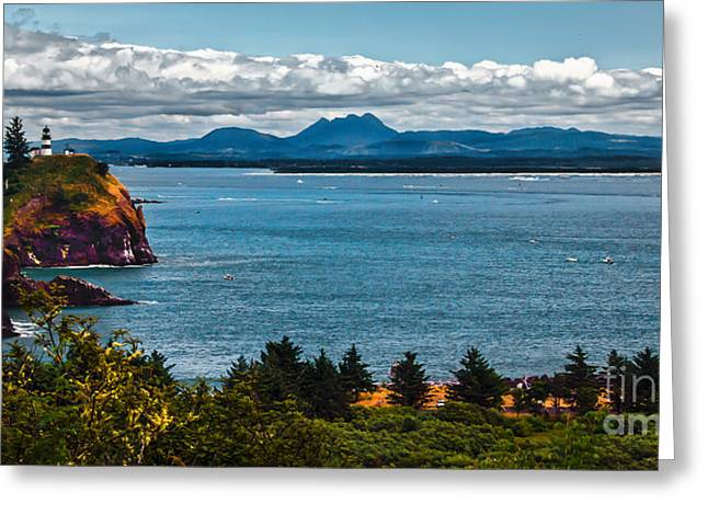 Columbia River Mouth Greeting Card by Robert Bales