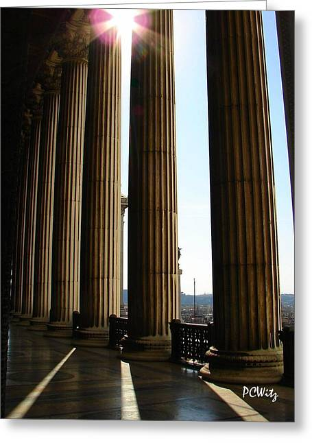 Greeting Card featuring the photograph Columns by Patrick Witz