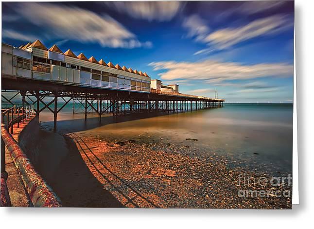 Colwyn Pier Greeting Card by Adrian Evans