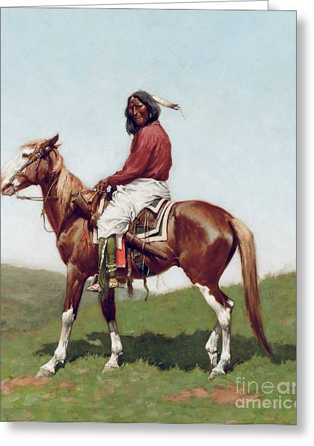 Comanche Brave Greeting Card
