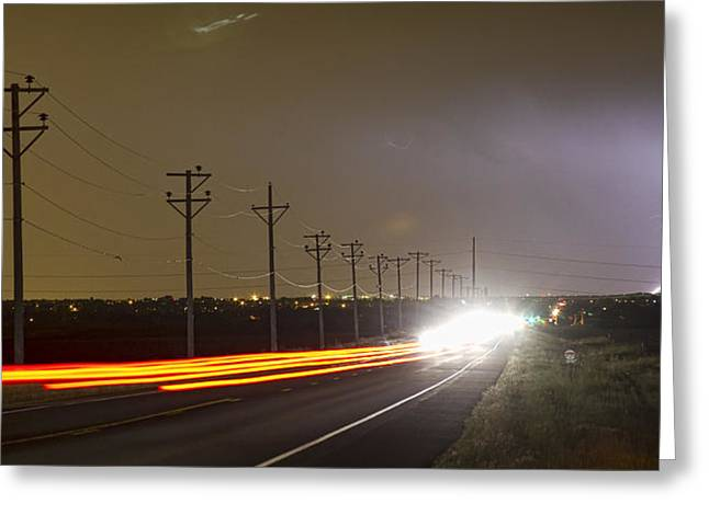 Come Into The Light Lightning Strike Panorama Greeting Card by James BO  Insogna
