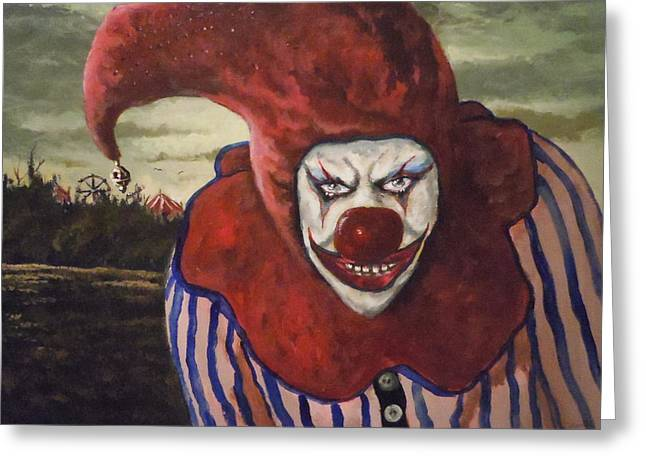 Greeting Card featuring the painting Come With Me To The Circus by James Guentner