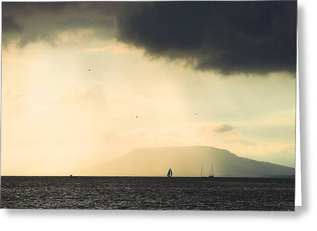 Greeting Card featuring the photograph Comes The Storm by Odon Czintos