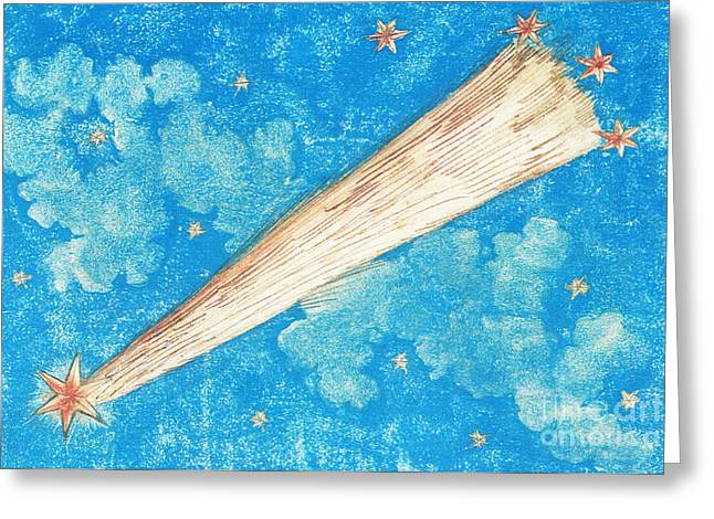 Comet Greeting Card by Science Source