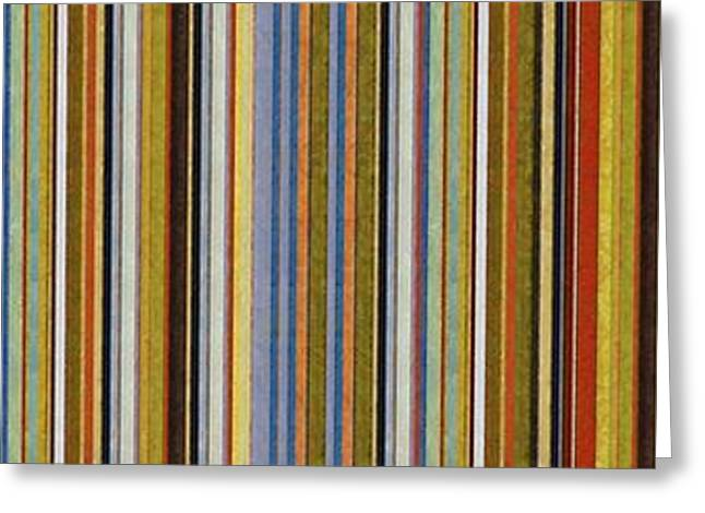 Comfortable Stripes Vlll Greeting Card by Michelle Calkins