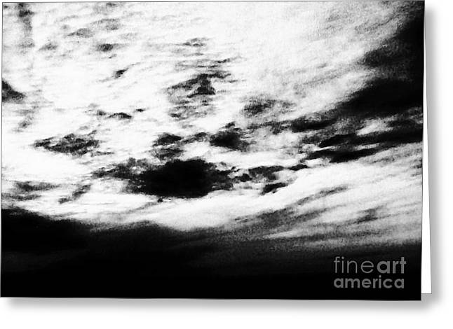 Coming In The Clouds Greeting Card by Marsha Heiken
