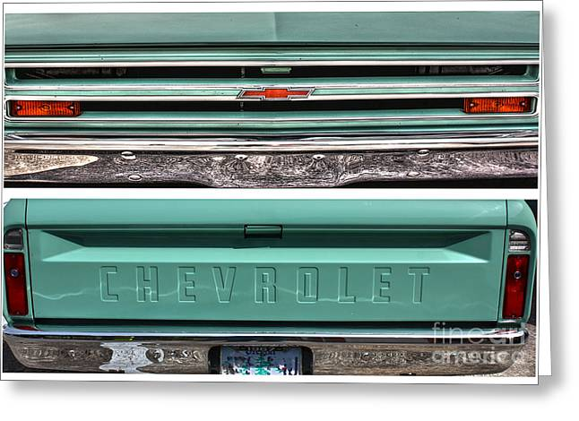Coming Or Going--still A Chevy Greeting Card by David Bearden