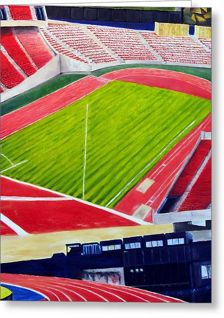 Commonwealth Stadium- Competition Greeting Card by Chris Ripley