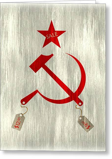 Communism Vs. Capitalism Greeting Card by Bojan Bundalo