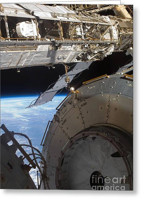 Components Of The International Space Greeting Card by Stocktrek Images