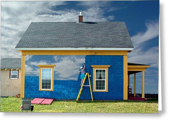 Composite - Blue Sky House Greeting Card