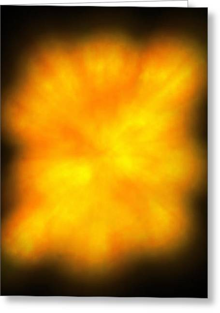 Computer Artwork Depicting The Big Bang Explosion Greeting Card by Roger Harris