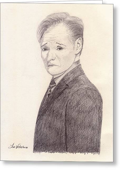Conan O'brien Greeting Card by M Valeriano