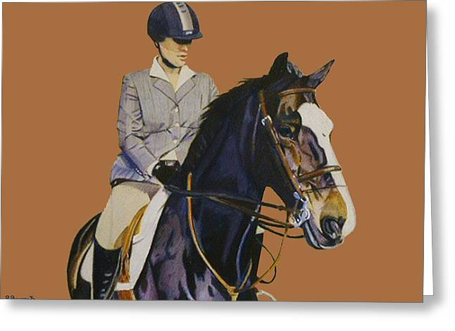 Concentration - Hunter Jumper Horse And Rider Greeting Card