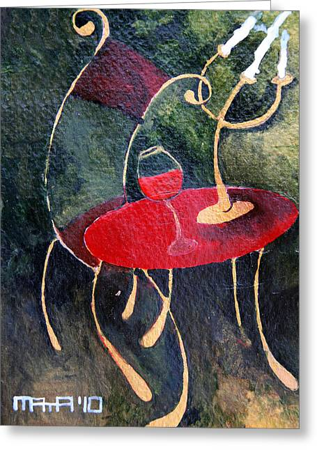 Concert For Single Chair Greeting Card