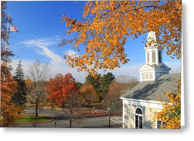 Concord Massachusetts In Autumn Greeting Card by John Burk