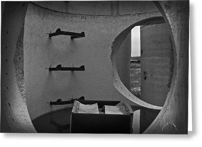 Concrete Pipes Greeting Card