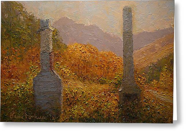 Concrete Tombstones Greeting Card