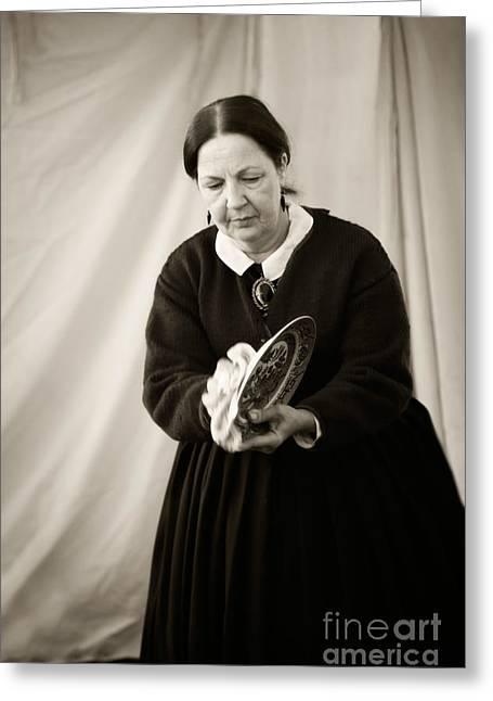 Confederate Camp Wife Greeting Card