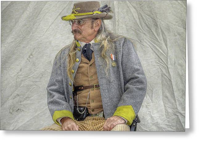 Confederate Veteran Portrait Greeting Card by Randy Steele