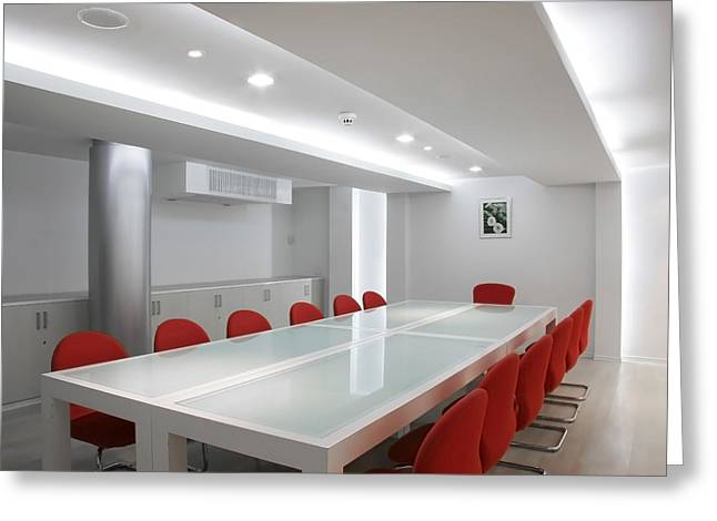 Conference Room Interior Greeting Card