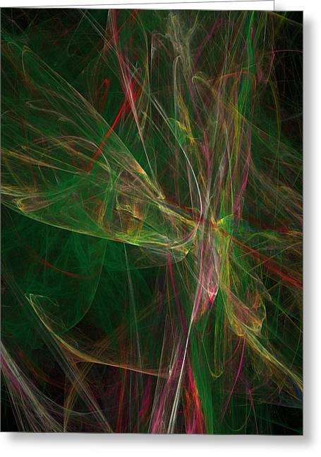 Greeting Card featuring the digital art Confusion by Ester  Rogers