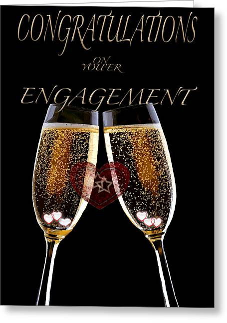 Congratulation On Engagement Greeting Card by Debra     Vatalaro