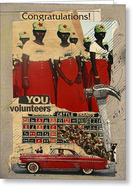 Congratulations You Volunteers Greeting Card by Adam Kissel