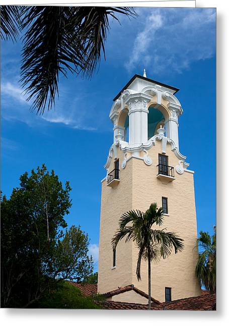 Greeting Card featuring the photograph Congregational Church Of Coral Gables by Ed Gleichman