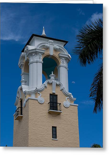 Greeting Card featuring the photograph Congregational Church Tower by Ed Gleichman