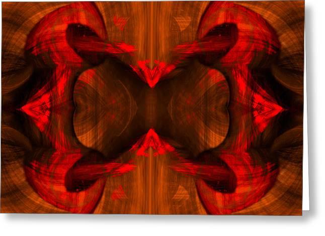 Conjoint - Rust Greeting Card by Christopher Gaston
