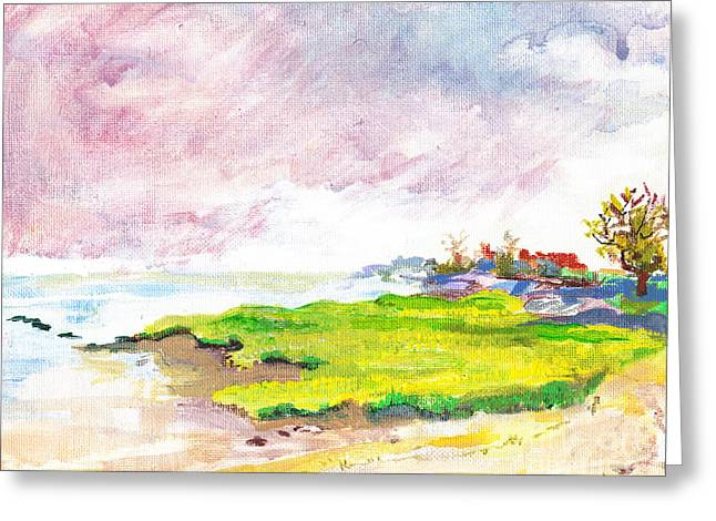 Connecticut Shore Greeting Card by Vannucci Fine Art