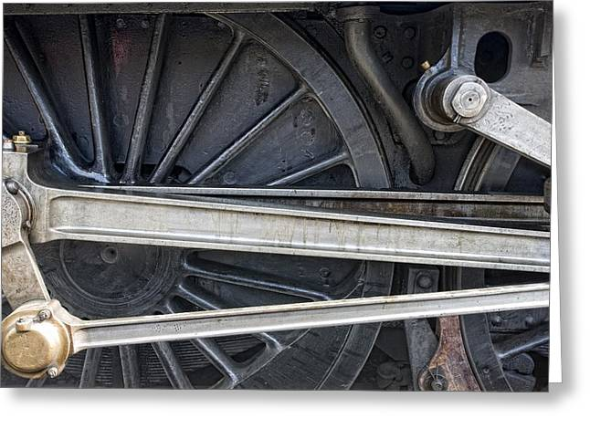 Connecting Rods Of Sir Nigel Gresley Greeting Card by John Short