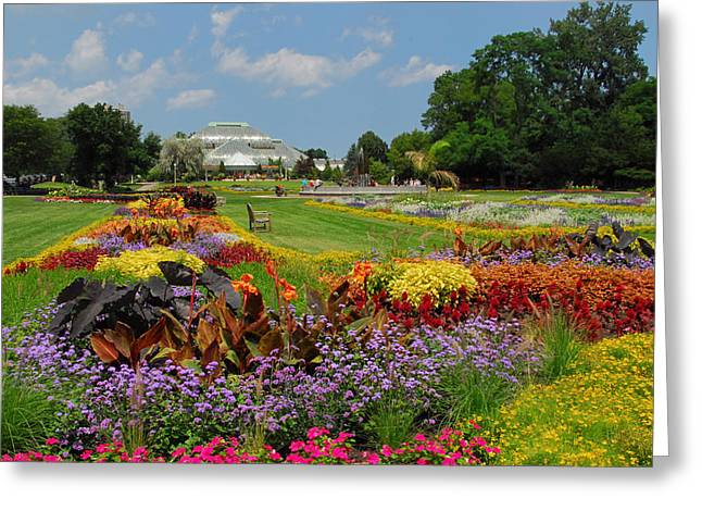 Greeting Card featuring the photograph Conservatory Gardens by Lynn Bauer