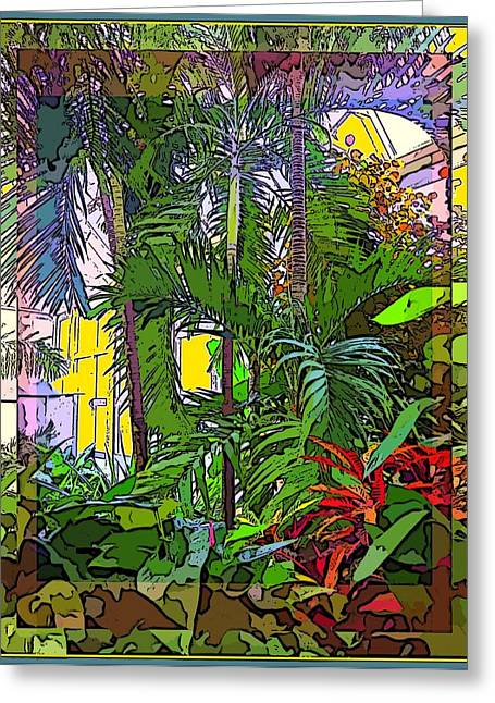 Conservatory Sunlight Greeting Card by Mindy Newman